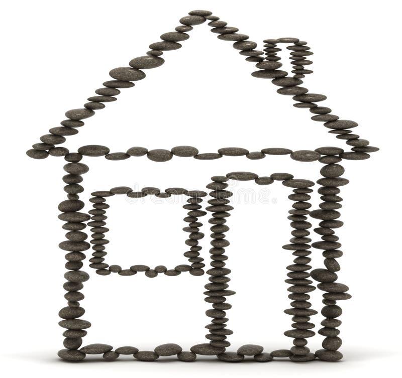 概念住房前提稳定性 向量例证