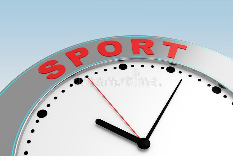 概念体育时间 向量例证