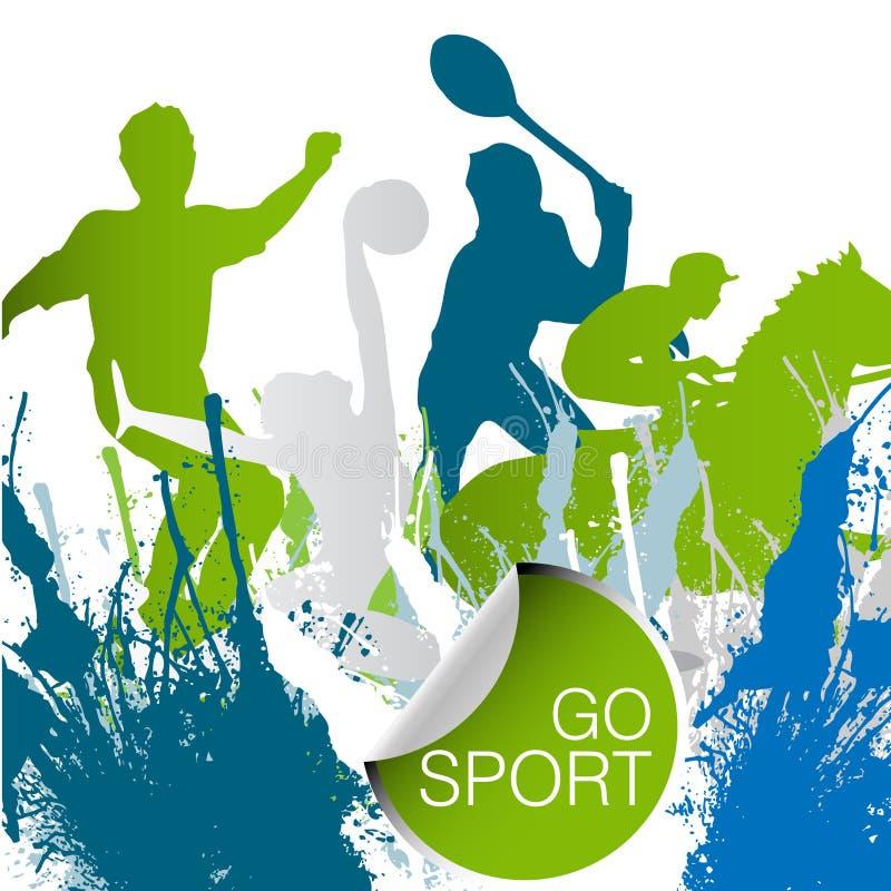 概念体育运动 皇族释放例证