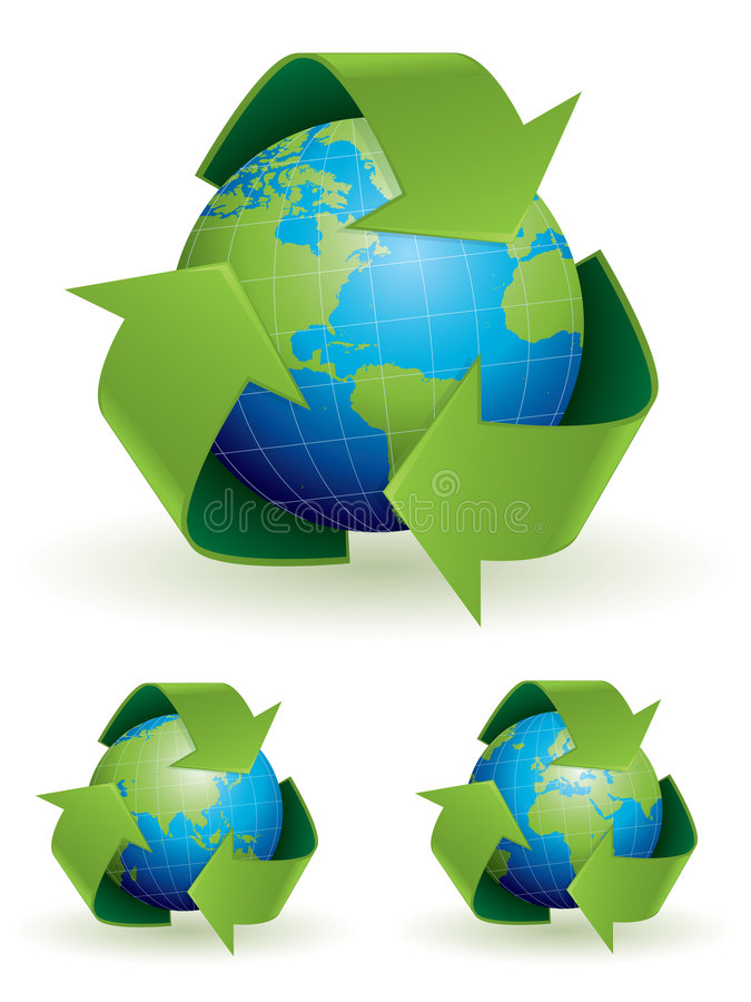 概念例证回收 库存例证