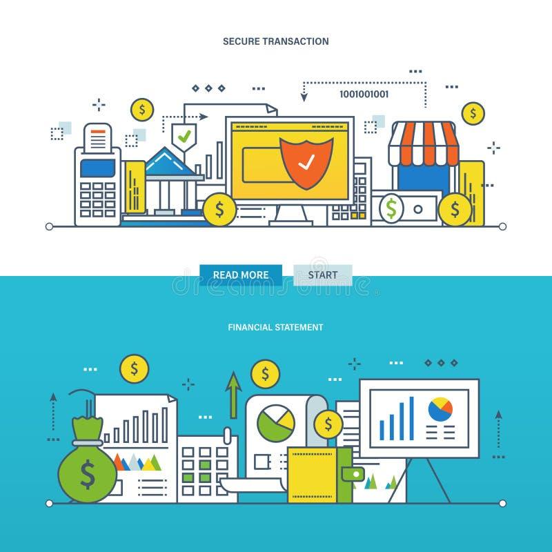 概念例证-财务管理和报告,交易安全  库存例证