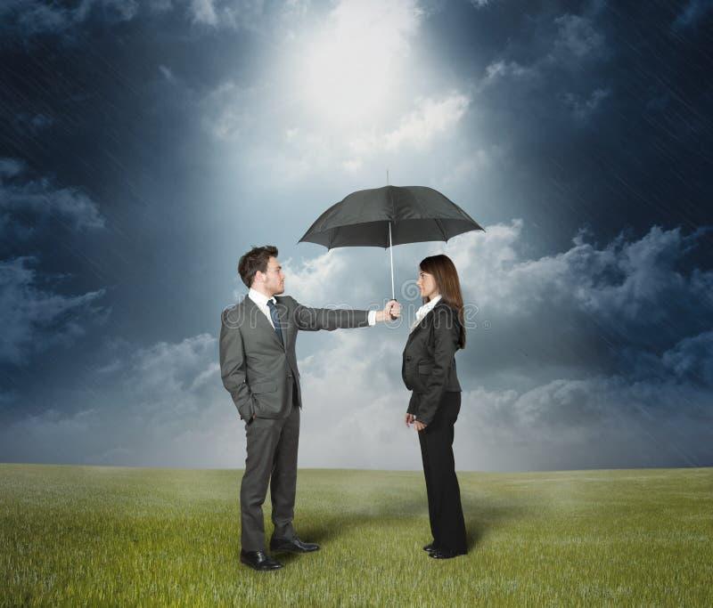 概念保险保护 免版税库存照片