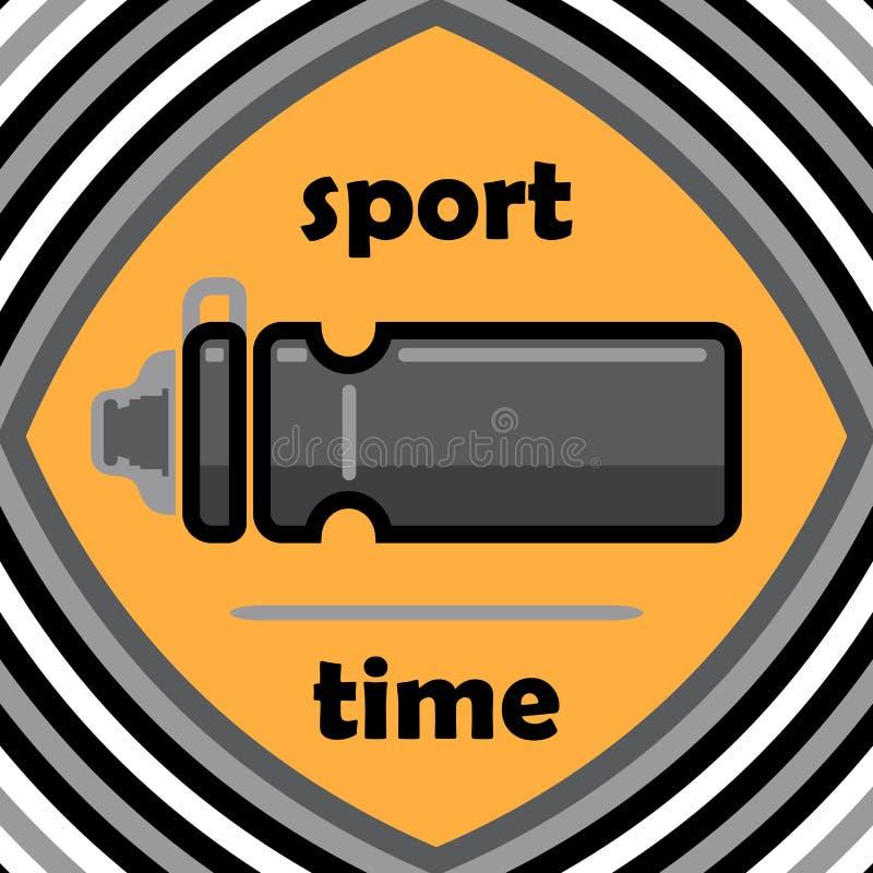 概念健康生活方式 体育时间 在一个平的样式的象 胸部丰满 向量例证