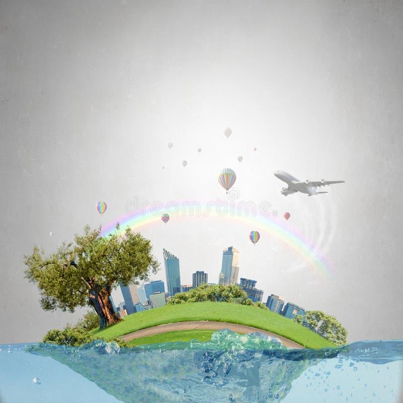 概念全球性变暖 免版税库存图片