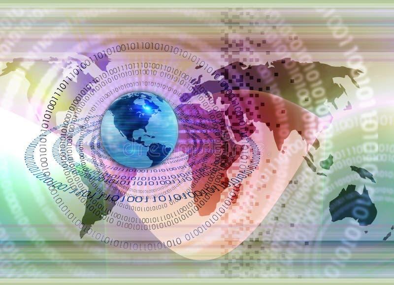 概念全球技术 皇族释放例证