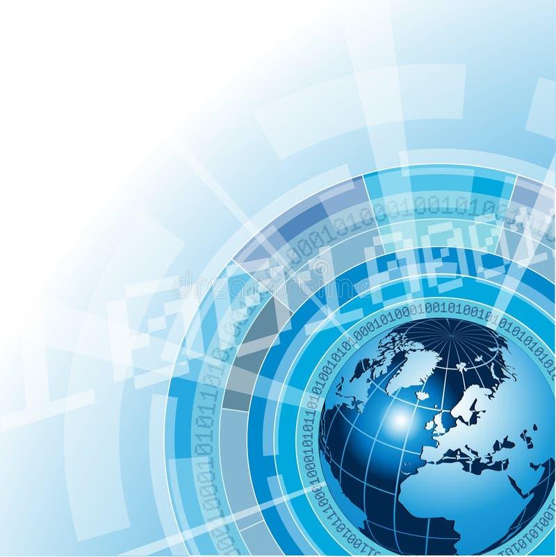 概念全球网络 皇族释放例证