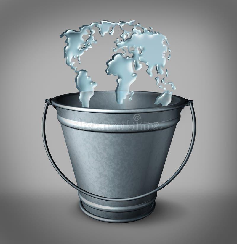 概念全球水 皇族释放例证