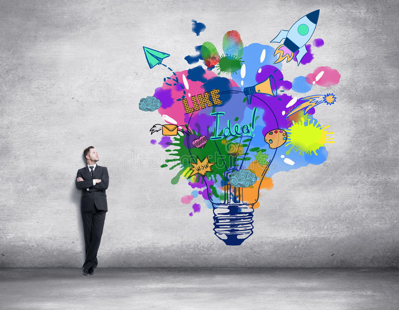 概念创造性的想法 皇族释放例证