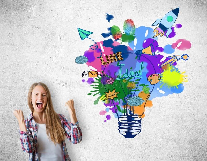 概念创造性的想法 向量例证