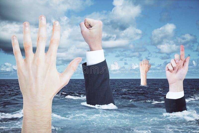 概念危机保证金船水击毁 免版税图库摄影