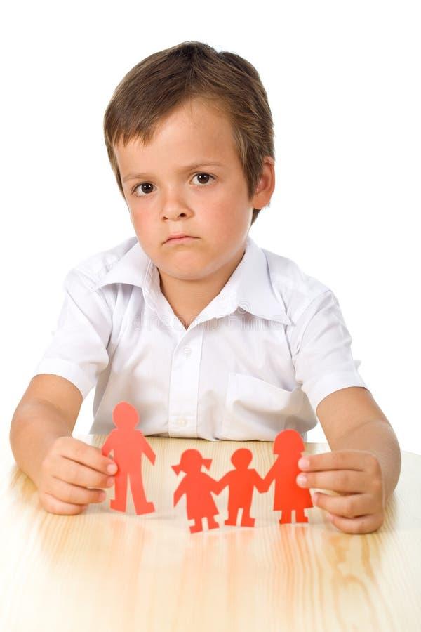 概念哀伤离婚的孩子 免版税库存照片