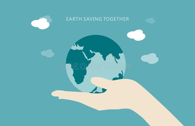 概念地球环境保存 库存图片