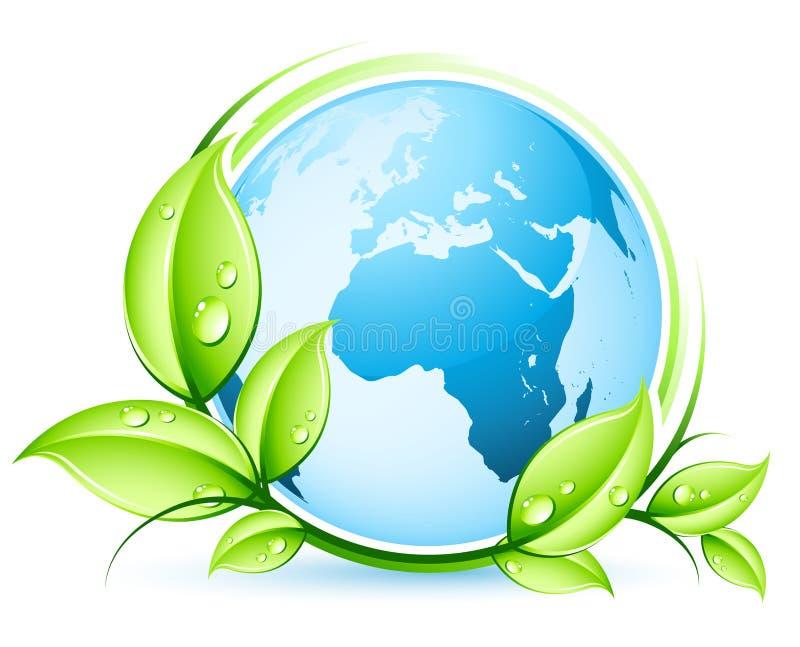 概念地球绿色 库存例证