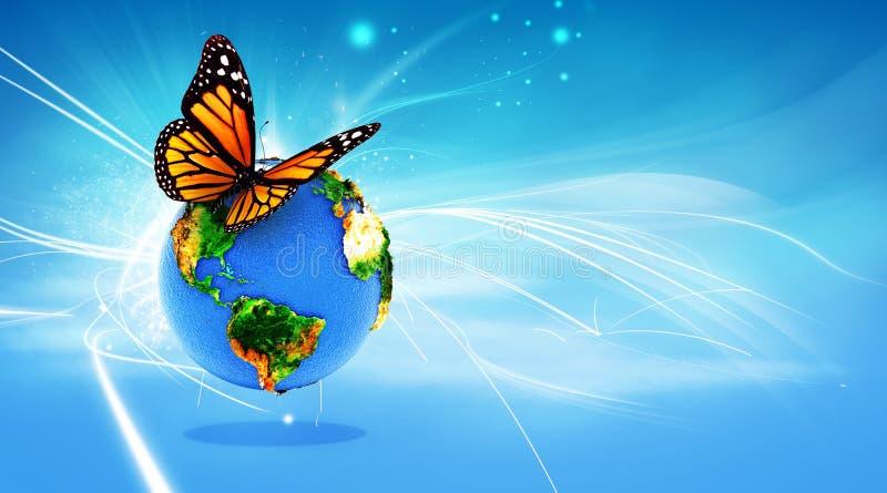 概念地球 库存例证