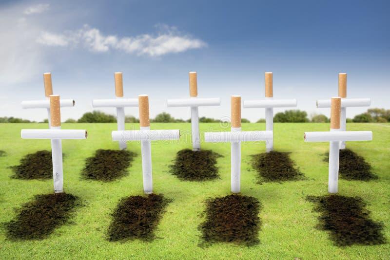 概念坟园杀害吸烟者抽烟 免版税库存图片