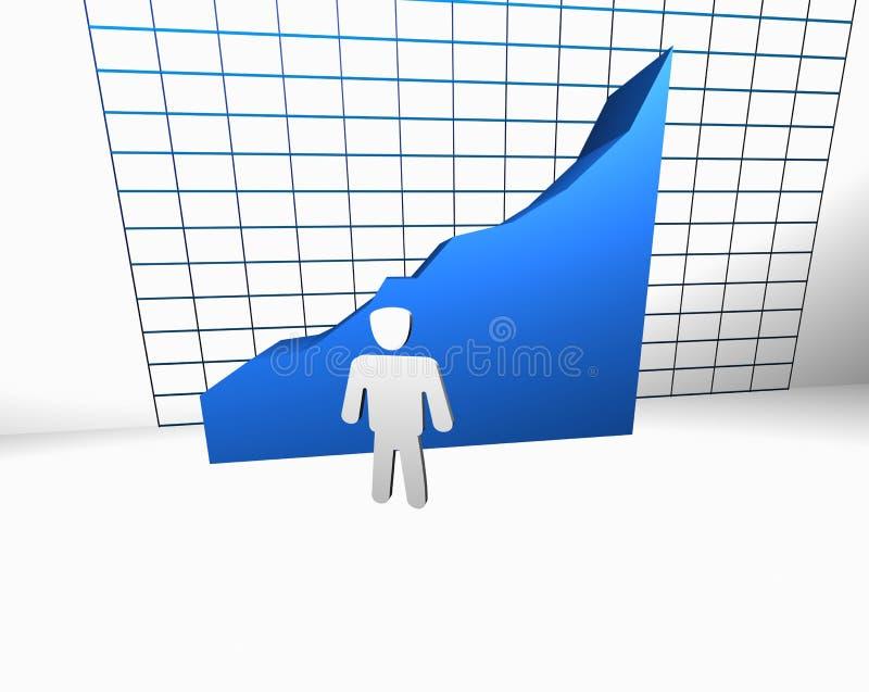 概念增长统计数据成功 皇族释放例证