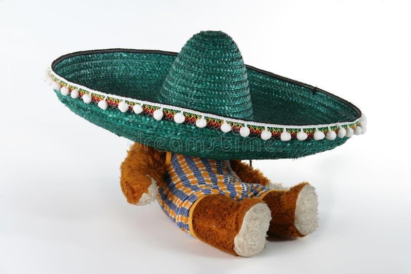 概念墨西哥阔边帽 免版税库存照片