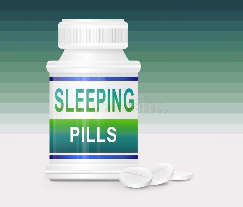 概念失眠 向量例证