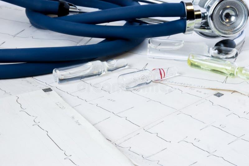 概念威胁生命的c心血管病心率失常心脏病传导系统、补救和安心的照片治疗  库存图片