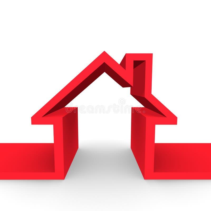 概念家庭住宅 库存例证
