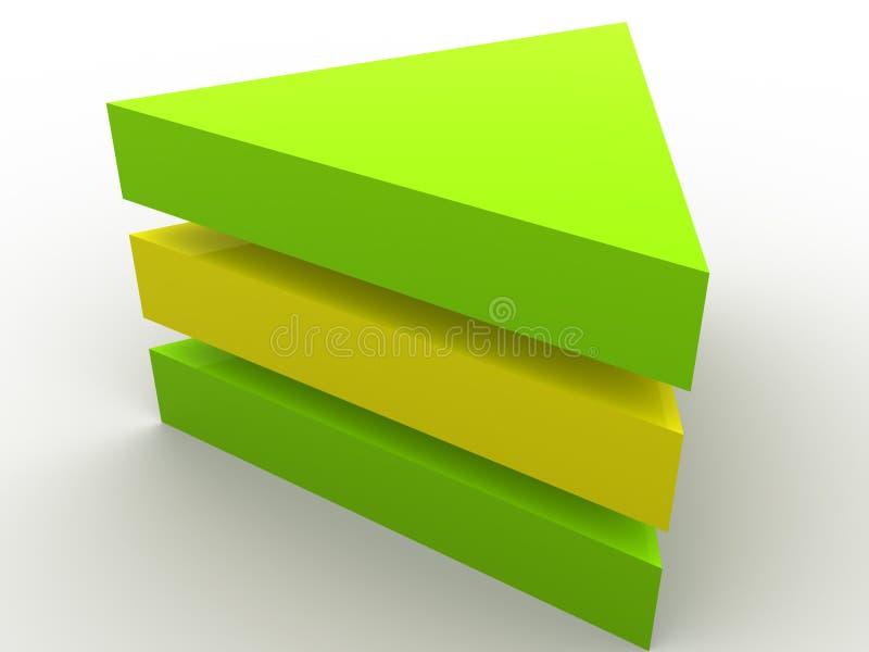 Download 概念尺寸三 库存例证. 插画 包括有 边缘, 符号, 表面, 角落, 顶层, 概念, 几何, 金字塔, 抽象 - 3674616