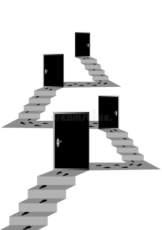 概念层次结构 向量例证