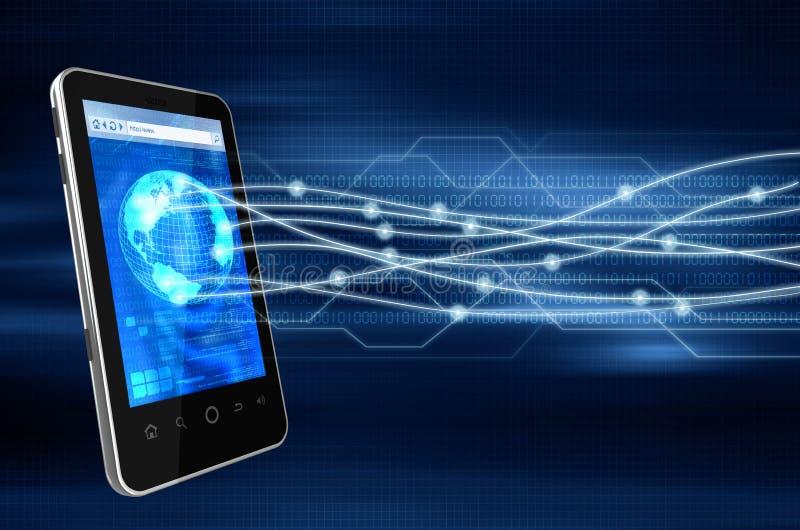 概念巧妙连接数的电话 皇族释放例证
