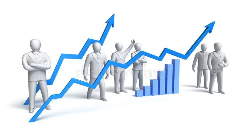概念市场股票 向量例证