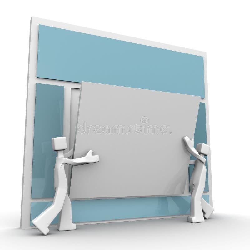 概念开发小组网站工作 向量例证