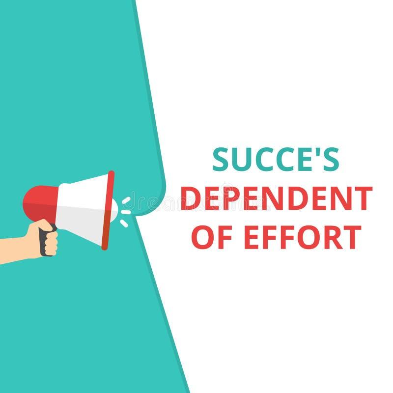 概念性书写显示的成功是依赖的努力 皇族释放例证