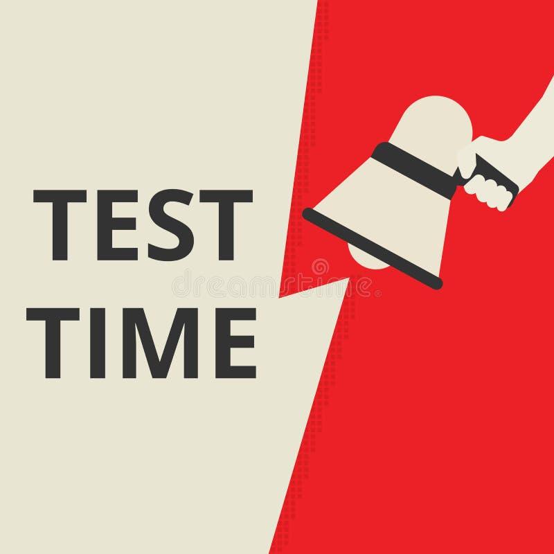 概念性书写显示的测试时间 皇族释放例证