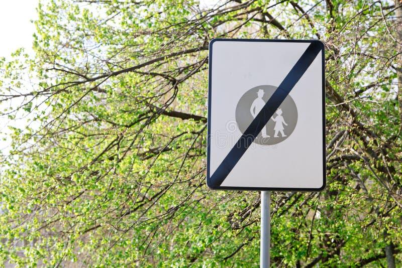 概念性交通唱-步行区域的结尾 图库摄影