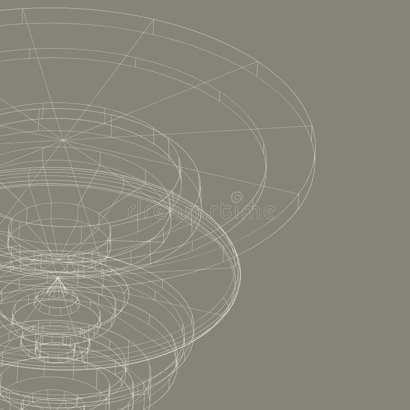 概念性传染媒介设计模板 摘要 向量例证