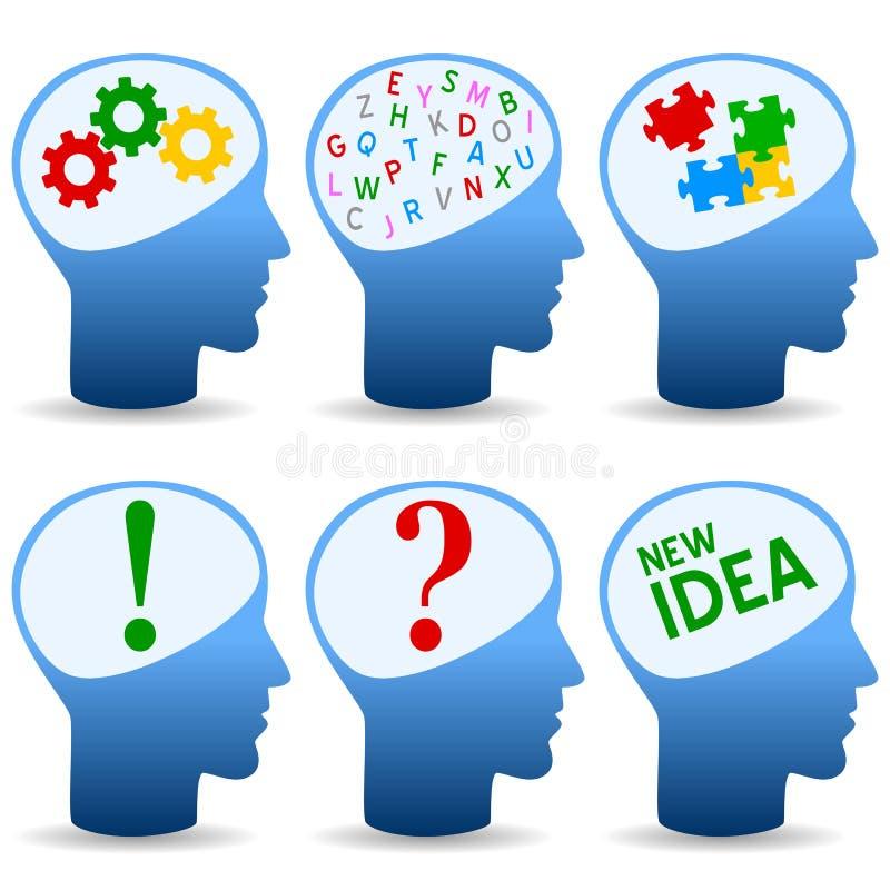 概念性创造性的图标头脑 库存例证