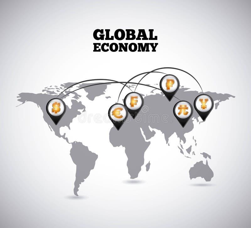 概念性危机经济全球图象猜想世界 皇族释放例证
