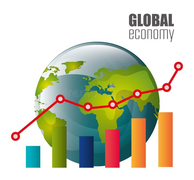 概念性危机经济全球图象猜想世界 库存例证
