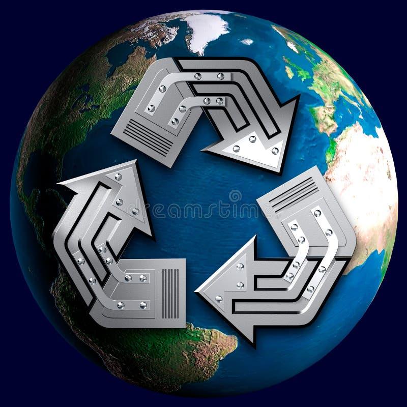 概念性回收的符号 向量例证