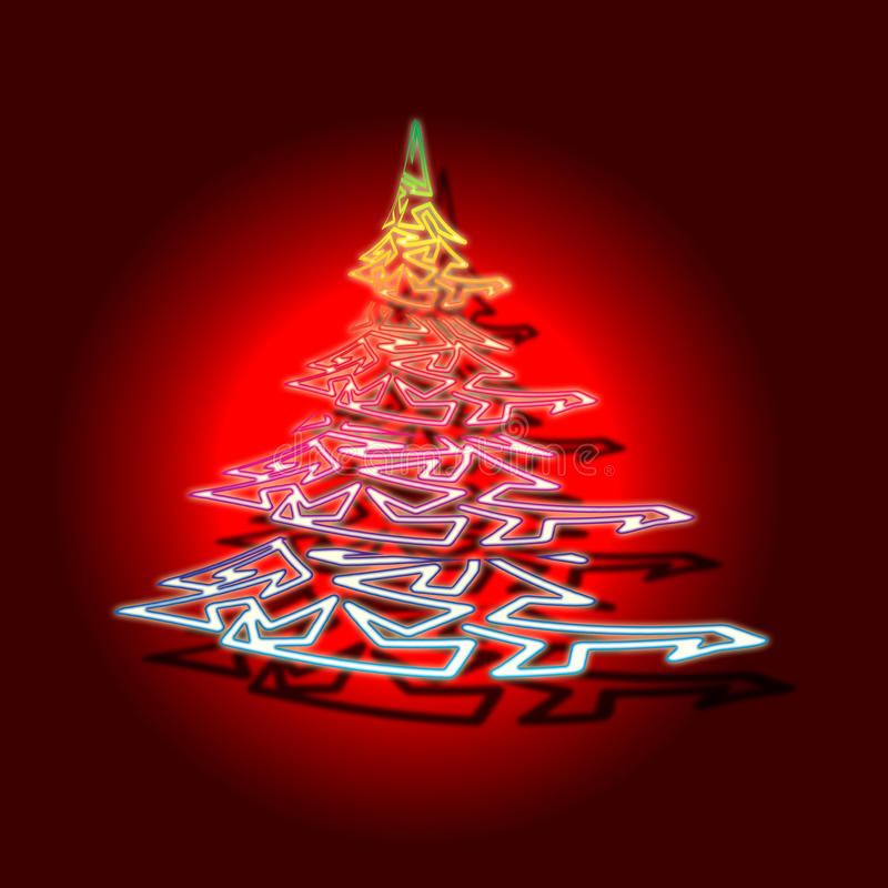 概念性圣诞树 库存图片