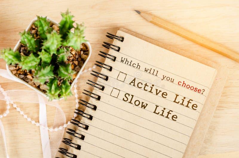 概念性在活跃生活和缓慢的生活之间 免版税库存图片