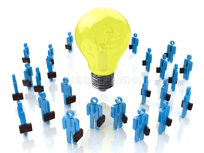 概念性想法。电灯泡 皇族释放例证