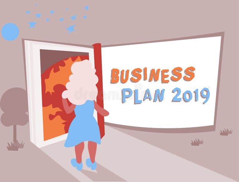 概念性手文字演艺界计划2019年 企业照片文本富挑战性企业想法和目标的新 皇族释放例证