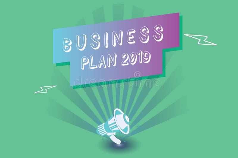 概念性手文字演艺界计划2019年 企业照片陈列的富挑战性企业想法和目标新年 皇族释放例证
