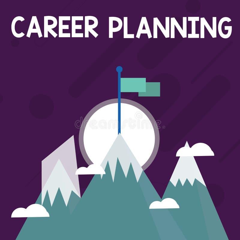概念性手文字陈列事业规划 企业战略照片文本计划您的事业目标和工作 库存例证