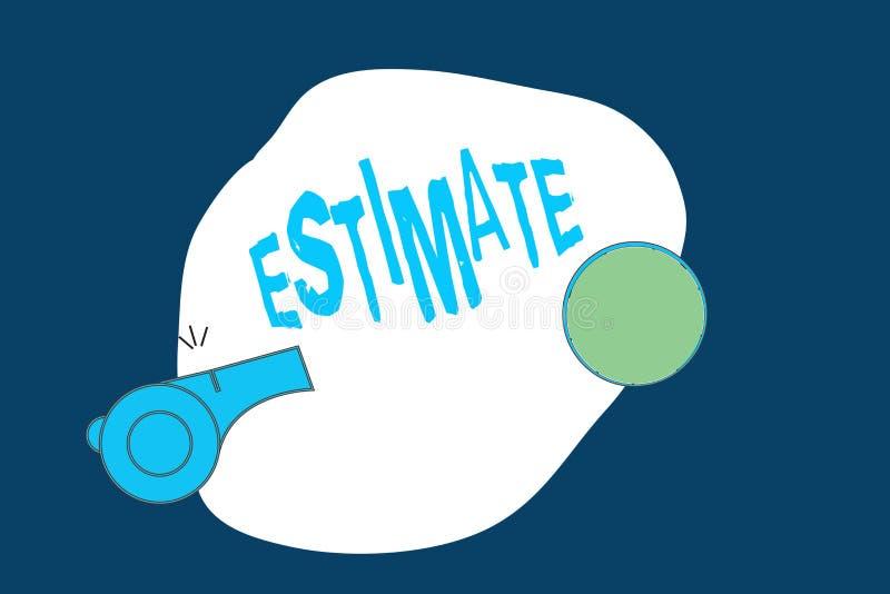概念性手文字陈列估计 企业照片文本大致计算法官价值数字某事的数量程度 向量例证