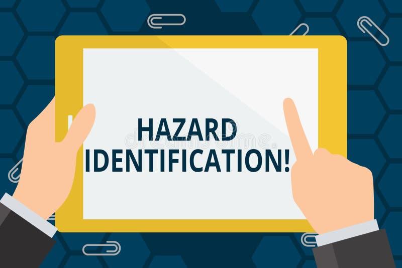 概念性手文字陈列危险证明 企业照片陈列的过程用于辨认在的危险 向量例证