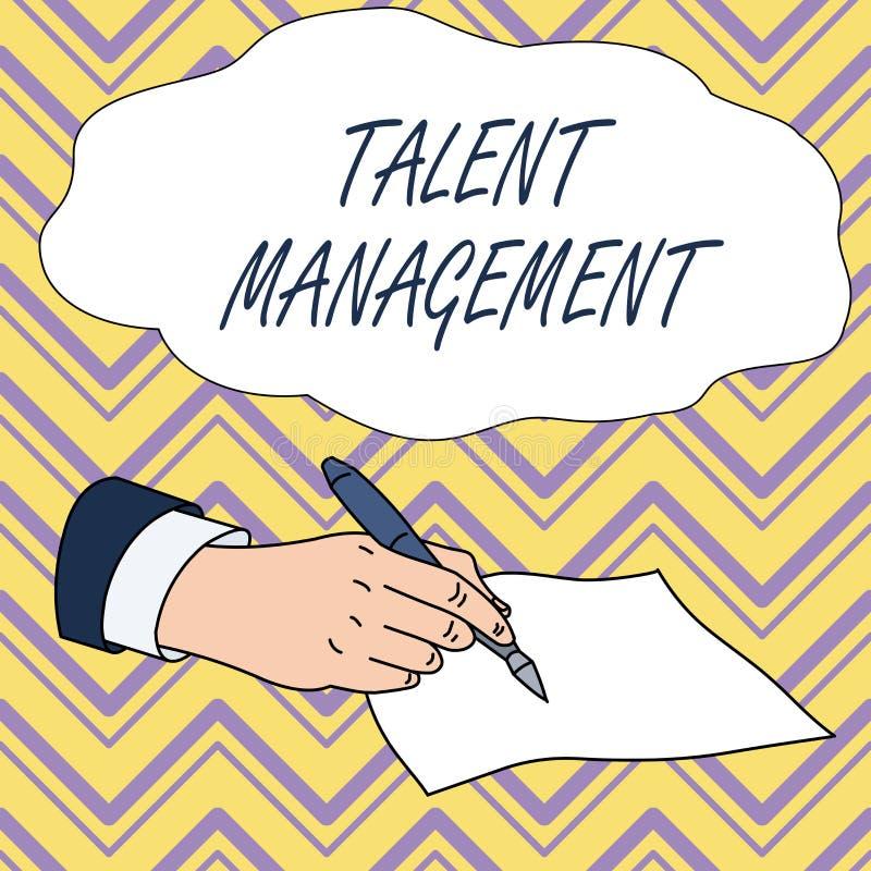 概念性手文字陈列天分管理 企业获取雇用和雇用的照片文本有天才的雇员 向量例证