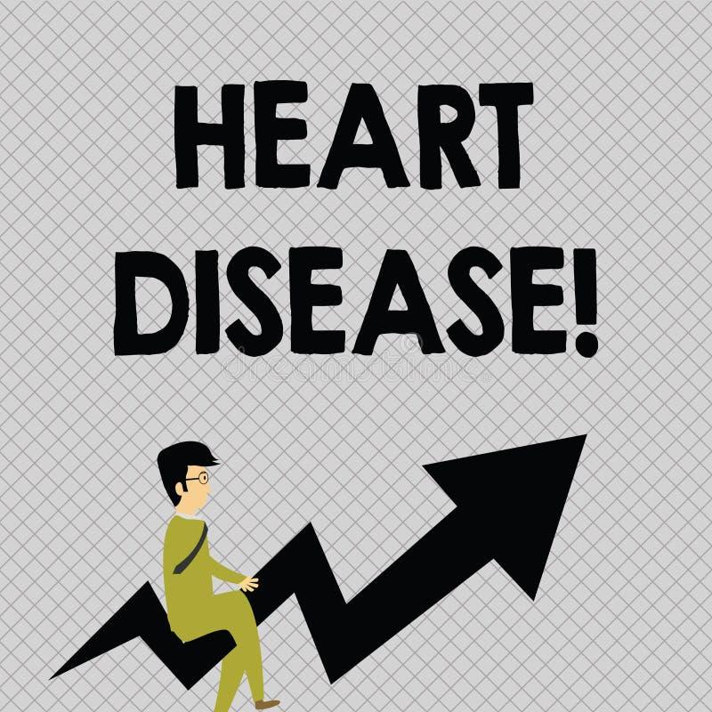 概念性手文字陈列心脏疾患 企业照片介入心脏或血液疾病的文本类  向量例证