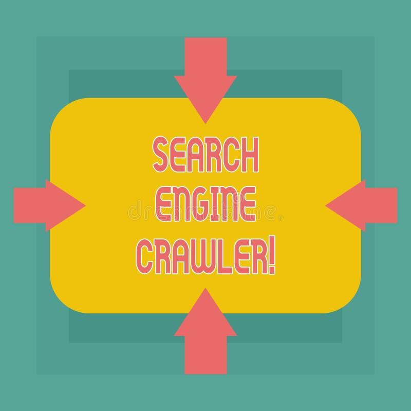 概念性手文字陈列搜索引擎履带牵引装置 企业照片文本节目或浏览的自动化的剧本 皇族释放例证