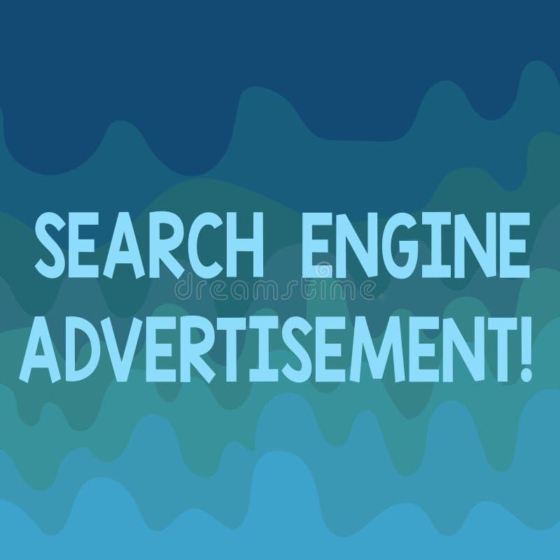 概念性手文字陈列搜索引擎广告 企业安置网上广告的照片文本在网页挥动 向量例证