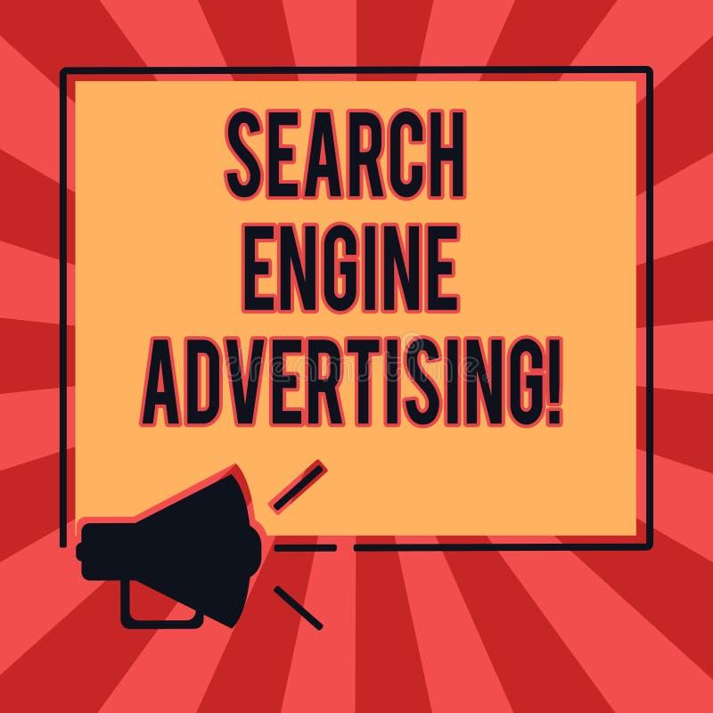 概念性手文字陈列搜索引擎广告 企业照片安置网上广告文本的方法  皇族释放例证